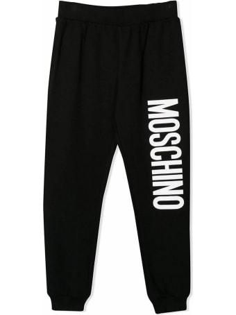 Moschino Black Cotton Track Pants
