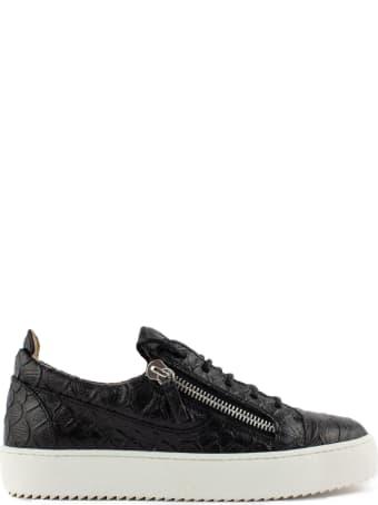 Giuseppe Zanotti Black Leather Frankie Sneakers