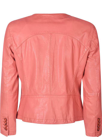 Bully Buttoned Leather Jacket