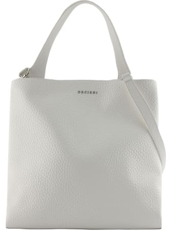 Orciani White Leather Jackie Shoulder Bag