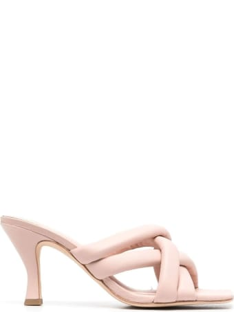 Ash Pink Leather Mina Sandals
