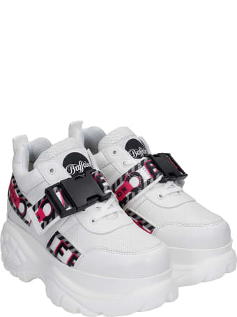 Buffalo Galip  Sneakers In White Leather