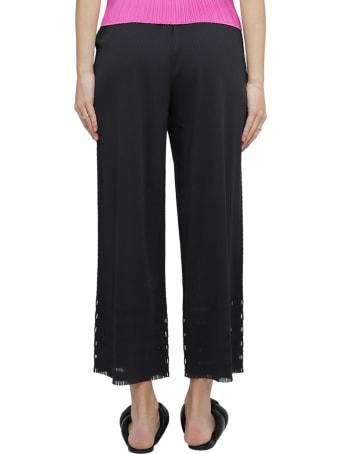 Pleats Please Issey Miyake Pleats Please Black A-poc Trousers