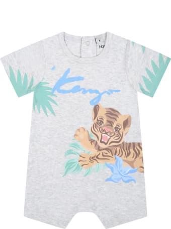 Kenzo Kids Grey Romper For Babyboy