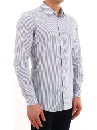 Vangher White And Light Blue Shirt