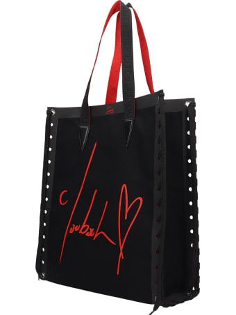 Christian Louboutin Cabalace Small Tote In Black Tech/synthetic
