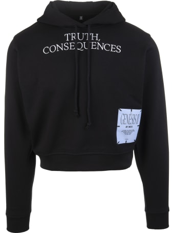 McQ Alexander McQueen Black Genesis Ii Woman Hoodie With Slogan