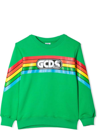 GCDS Green Cotton Sweatshirt