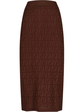 Fendi Logo Midi Skirt