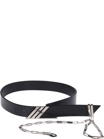 The Attico Black Leather Belt