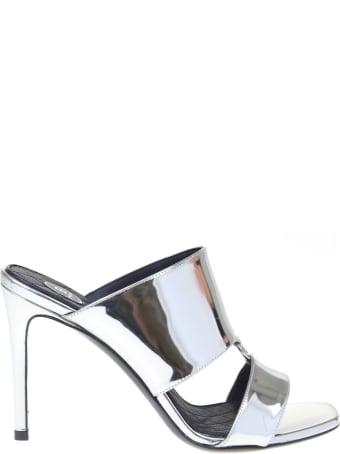 Balmain Sabot Paola Mirror In Mirror Effect Leather