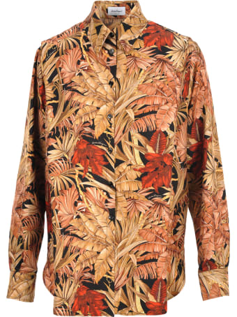 Salvatore Ferragamo Salvatore Ferragamo Foliage Print Shirt