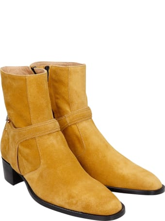 hyusto Steve  Ankle Boots In Leather Color Suede