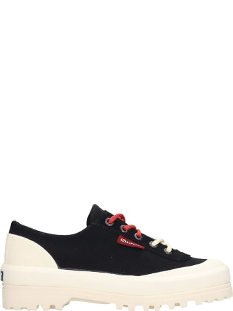 Superga Alpina Low Sneakers In Black Canvas