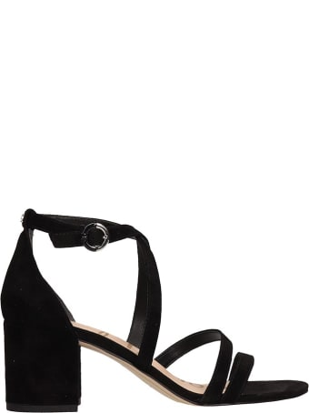 Sam Edelman Black Suede Leather Sandals