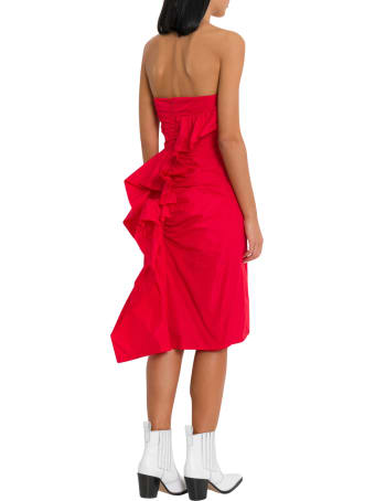 ALEXACHUNG Ruched Strapless Dress