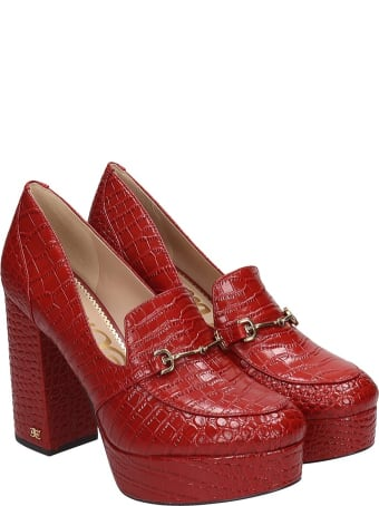 Sam Edelman Aretha Pumps In Red Leather