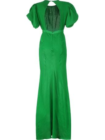Alessandra Rich Silk Georgette Dress