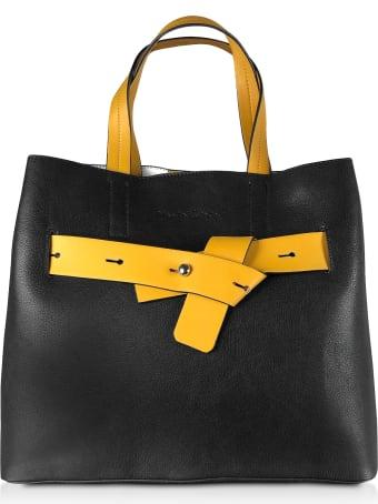 Manila Grace Black & Yellow Tote Bag