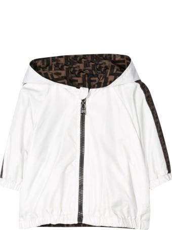 Fendi Kids Jacket With Side Logo Bands