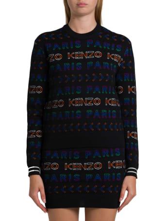 Kenzo Alloover Jacquard Logo Sweater