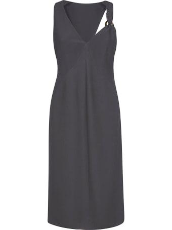 Giorgio Armani Cut-out Detail V-neck Dress