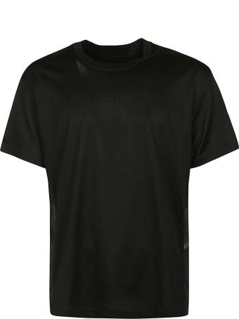 Les Hommes Side Contrast Oversize T-shirt