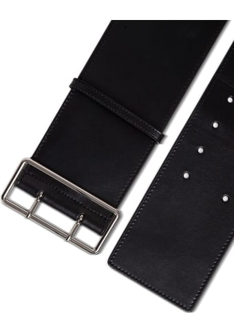 Alexander McQueen Military Belt In Black Leather