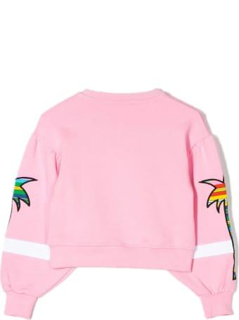 MSGM Pink Cotton Sweatshirt