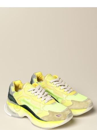 Premiata Sneakers Sharky Premiata Sneakers In Suede And Mesh
