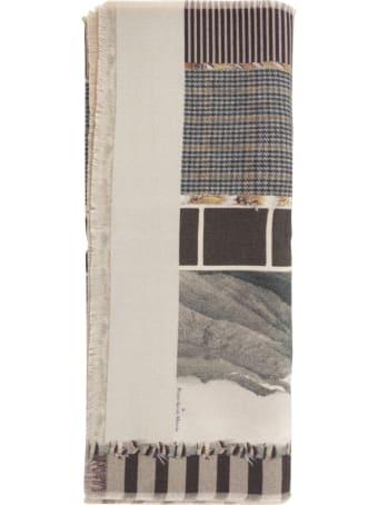 Pierre-Louis Mascia Wash Printed Scarf 65x190 W/fringes