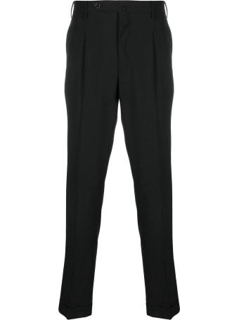 PT01 Black Pants In Wool Blend