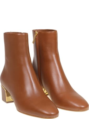 Michael Kors Ankle Boot In Leather Color Leather