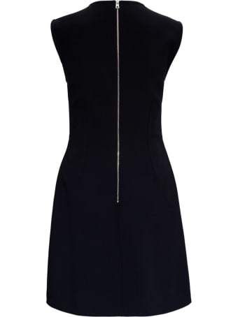 Bottega Veneta Viscose Silk Dress With Cape Sleeves