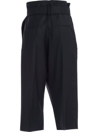 Eudon Choi Pants High Waist W/belt