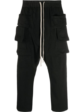 DRKSHDW Black Cotton Track Pants