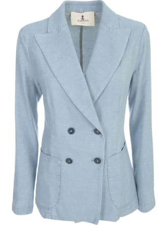 Barena Dalia Denim Fitted Double Breasted Jacket