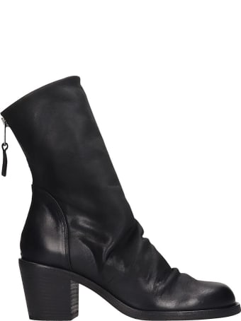Strategia Ankle Boots In Black Leather