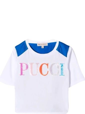 Emilio Pucci Teen T-shirt With Junior Emilio Pucci Print