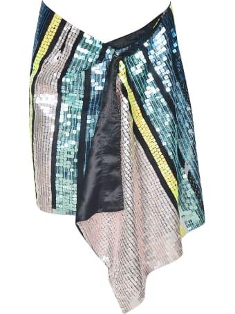 Circus Hotel Sequined Midi Skirt
