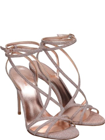 Le Silla Belen Sandals In Powder Glitter