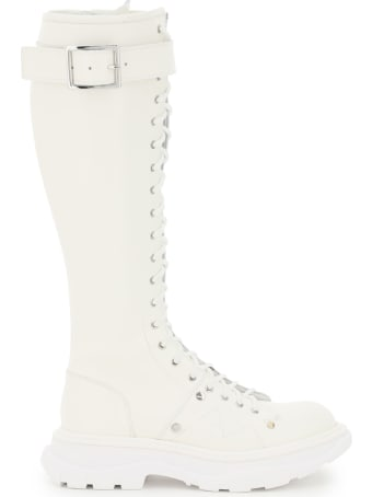 Alexander McQueen Lace-up Boots With Stitching
