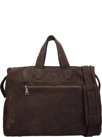 Officine Creative Mayfair Bag In Brown Suede
