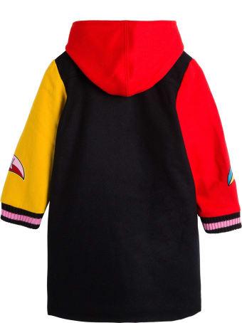 Stella McCartney Kids Color Block Wool Coat