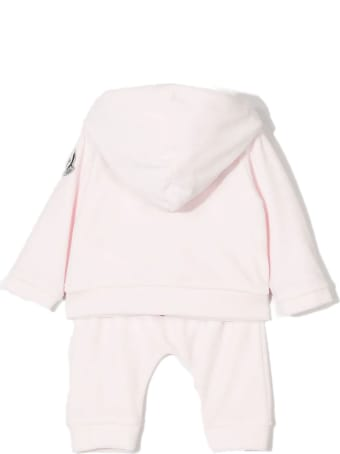 Moncler Tracksuit Set In Light Pink