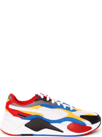 Puma Select Rs-x3 Puzzle Multicolor Nylon & Leather Sneaker