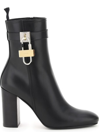 Givenchy Lock Leather Ankle Boots