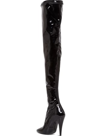Saint Laurent Patent Leather Aylah Over The Knee Boots