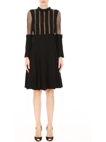 Capucci Plissé Dress With Lace