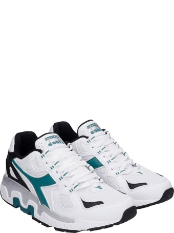 Diadora Mythos  Sneakers In White Synthetic Fibers